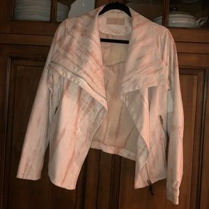 Pink suede Blank NYC jacket size M New with tags